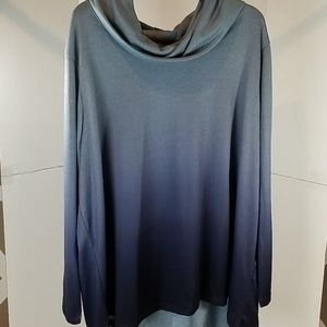 Avenue Blouse with Fade light gray to dark blue